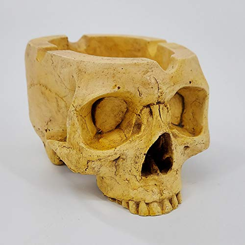 Cigar Skull Ashtray (Antique) Handmade in the USA Full Size 8 inches by 5 inches and 4 inches Tall
