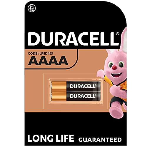 Duracell - Pilas especiales alcalinas AAAA de 1,5V, paquete de 2 unidades (LR8D425) diseñadas para lápices digitales, dispositivos médicos y faros