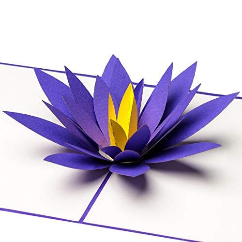 PrimePopUp | Lotusblüte | 3D Pop Up Grußkarte | Gute Besserung Karte | Viel Glück | Alles Gute | Gesundheit | Erfolg | Geburtstagskarte für Geldgeschenk oder als Gutschein