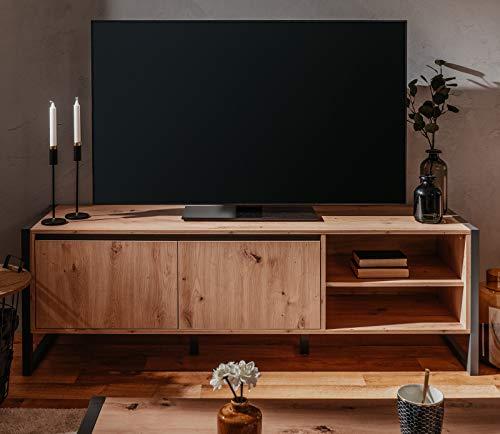 FINORI TV-Lowboard Denver in Artisan Eiche und Anthrazit Industrial Look TV-Unterteil 160 x 55 cm