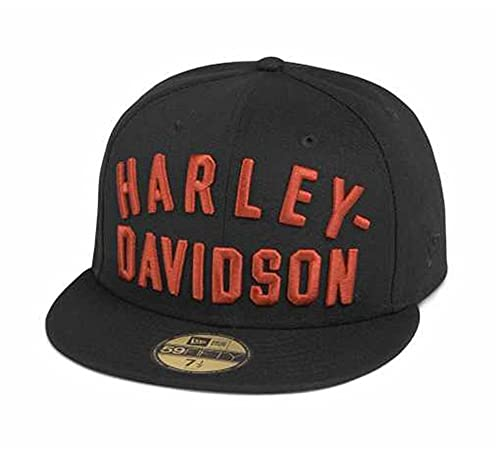 HARLEY-DAVIDSON Herren Arched Logo 59FIFTY Baseball-Cap Cappy Kappe Mütze Snapback Schwarz