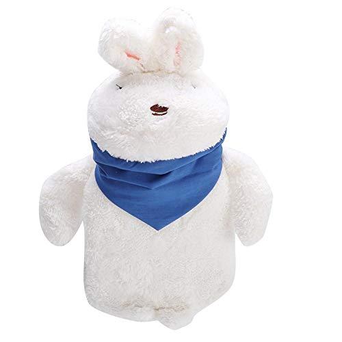 Borsa dell'Acqua Calda, Simpatico Pupazzo di Peluche Borsa per l'acqua Calda Borsa per Mani Calde Piedi più Caldi Borsa per iniezione di Acqua per L'Ufficio a casa(# 2 White Rabbit)