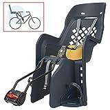 P4B | Fahrrad Kindersitz in Denim/Yellow - 9 bis 22 Kg | Befestigung hinten am Rahmen | Kinderfahrradsitz 9 Monate - 5 Jahre | Für Fahrräder mit 26-29 Zoll und 28-40 mm Rohrdurchmesser