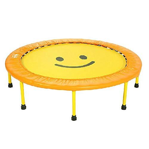 TOPYL Trampolin Indoor Für Kinder Springen Spielen,Minitrampolin Mit Safety Gepolsterte Abdeckung,Runde Kinder Trampolin Gelb 150cm