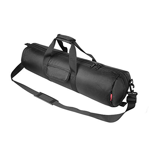 Hemmotop Tripod Carrying Case Bag 26x7x7in/65x18x18cm Heavy Duty with Storage Bag and Shoulder Strap Padded Carrying Bag for Light Stands, Boom Stand and Tripod