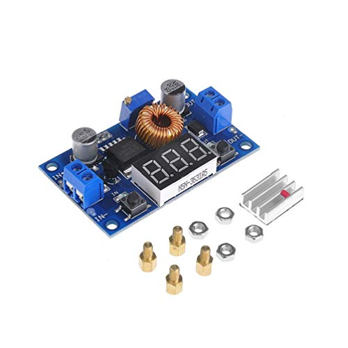 tinxi 5A 75W DC DC Modulo Convertitore step-down Convertitore di Tensione con voltmetro LED