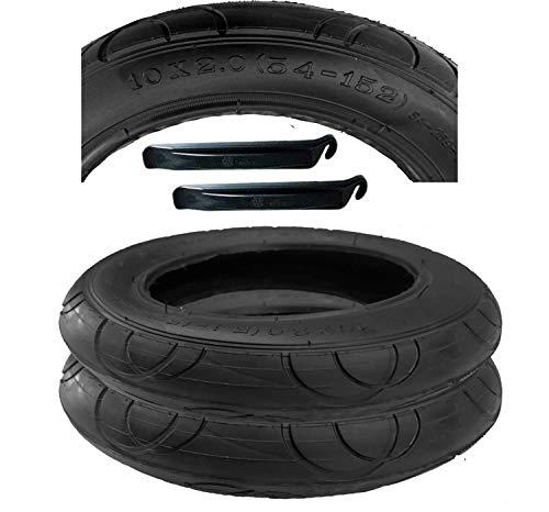 2 Stück Reifen Mantel 10 x 2 mit Montagehebel