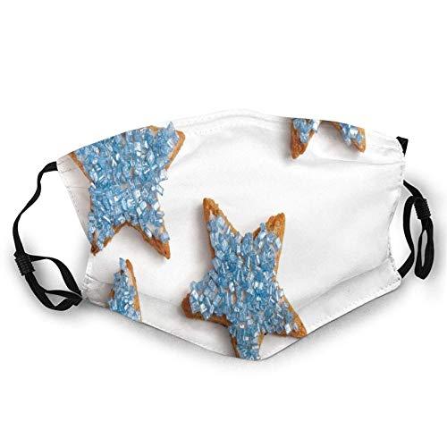 Galletas horneadas en formas de estrella con adornos en la parte superior Snacks Cara M-A-S-K Bandana lavable para adultos hombres mujeres
