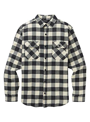 Burton Brighton Camiseta De Franela, Hombre, Canvas Heather Buffalo Plaid, L