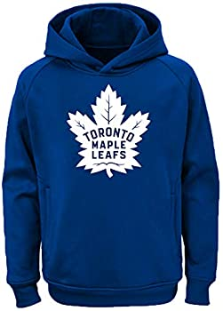 Outerstuff NHL Youth 8-20 Team Color Performance Primary Logo Pullover Sweatshirt Hoodie  Medium 10/12 Toronto Maple Leafs Blue