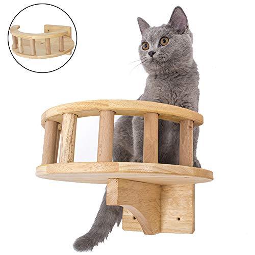 Krabpaal, modern kattenmeubel voor wandmontage Nest springplank met omheining speelactiviteitscentrum kat wandaccessoires