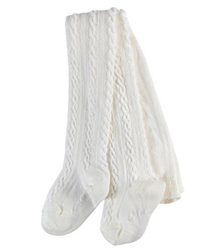 FALKE Babys Strumpfhosen Cable, Baumwollmischung, 1 Stück, Weiß (Off-White 2040), Größe: 80-92