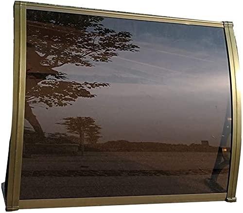 DHFDHD Toldo para Ventana Toldo Refugio UV de Agua de Lluvia Resist marquesinas de Puertas y porches Toldos Puerta Toldo Toldo Ventana Puerta toldo (Color : Brown+Champagne, Size : 80x100cm)