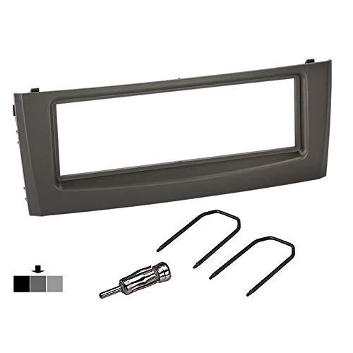Sound-way Kit Montaje Autoradio, Marco 1 DIN Radio para Coche, Adaptador Antena, Llaves Desmontaje Compatible con Fiat Grande Punto
