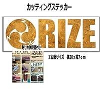【③】RIZE 雷図 カッティングステッカー 【金】