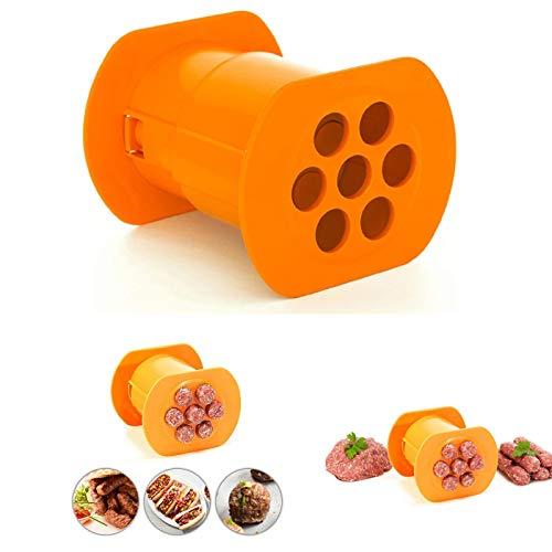 Uno strumento per la produzione di salsicce, 7 salsicce per la produzione di stampi per salsicce, antiaderente, per cucina, barbecue, grigliate, feste