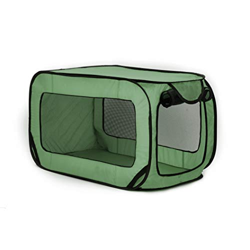 Love's cabin 36in Portable Large Dog Bed - Pop Up Dog Kennel, Indoor Outdoor Crate for Pets, Portable Car Seat Kennel, Cat Bed Collection, Green Kennels