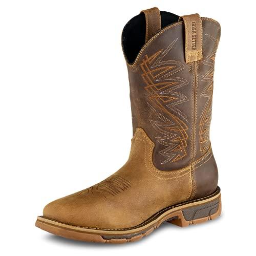 "Irish Setter Work Men's 83912 Marshall 11"" Pull-On Steel Toe Waterproof Work Boot,Brown,8 D US"