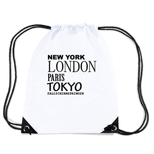JOllify Fallschirmspringen Turnbeutel Tasche GYM6232 – Design: New York, London, Paris, Tokyo
