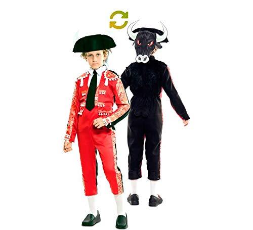 EUROCARNAVALES Disfraz Doble de Torero y Toro para niño