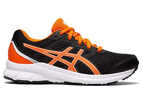 ASICS Kid's Jolt 3 GS Running Shoes, 7, Black/Marigold Orange