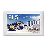 KINGDY WM215RS03 21.5インチFHD産業用ファンレスタッチパネルモニター M12コネクタ搭載 5線抵抗膜式タッチ対応 IP65/NEMA4準拠 6面防塵防水 304ステンレス製筐体