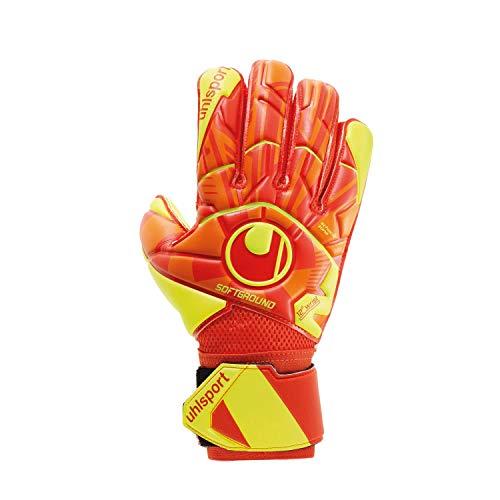 uhlsport Herren Dynamic Impulse Soft Flex Handschuhe, Dynamic orange/Fluo gelb/, 10.5, 101114601