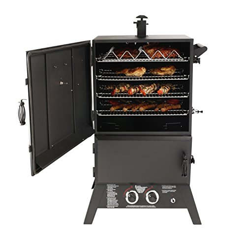 Compare Pit Boss Grills 77550 Pellet Smoker and Dyna-Glo DGW1235DP-D Gas Smoker Grill