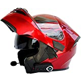 BCBKD Casco Moto Modulare Bluetooth Integrato, Casco Moto Donna Integrale Casco Modulare Apribile Moto Touring...