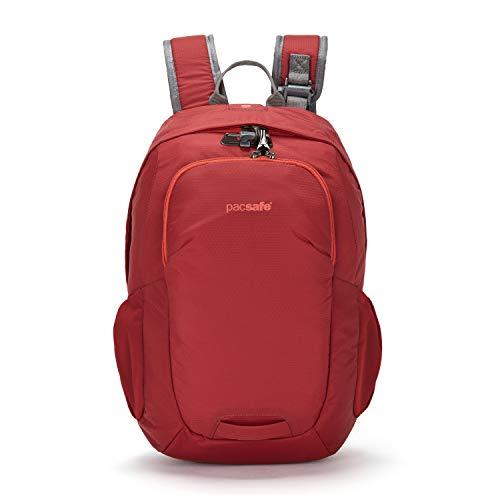 Pacsafe Venturesafe G3 32 Liter grosser Rucksack, Anti-Diebstahl Technik, 100D Nylon Diamond Ripstop, Daypack, Wanderrucksack, Reisegepäck mit Sicherheitstechnologie, 32 Liter, Rot/Goji Berry