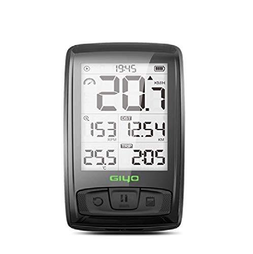 Ciclocomputador GPS Computadora Bicicleta Inalámbrica Ordenador de Ciclismo Pantalla LCD de 2,5 Pulgadas por Impermeable Bicicleta de Carretera MTB Bicicleta IPX 5