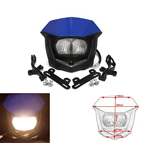 YSMOTO Street Fighter Headlight Motorcycle Headlight Supermoto Universal Headlights Head Light For Kawasaki KLX450 KX250F KX450F KLX250 KX65 KX85 KX125 KX250 KX KLX KXF 125 250 450 110 65 85 Green