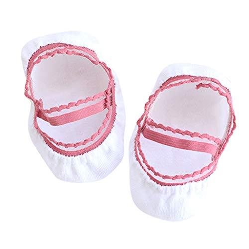 COZOCO Botas Antideslizantes Para Niños De Dibujos Animados Para Bebés Zapatos Calientes Zapatillas De Interior En Calcetines De Tubo (M, Blanco)