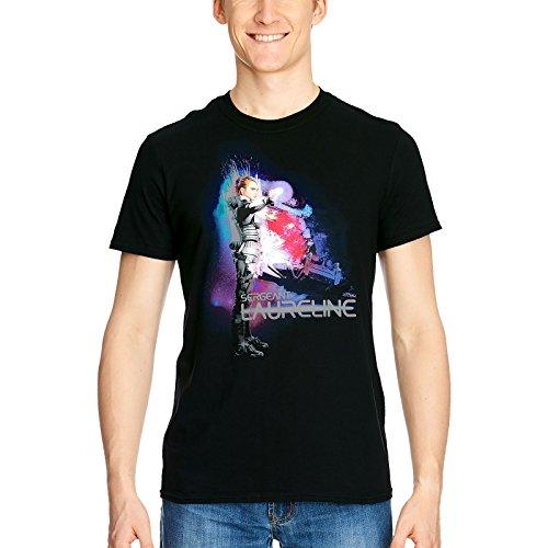 Valerian Mens T-Shirt en Coton Noir Sergent Laureline - S