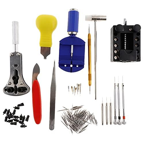 Ver herramienta removedora de conexión Kit de herramientas de reparación de reloj de batería 147pcs Kit de reparación Cambio de destornillador de removedor La herramienta de reparación de observación