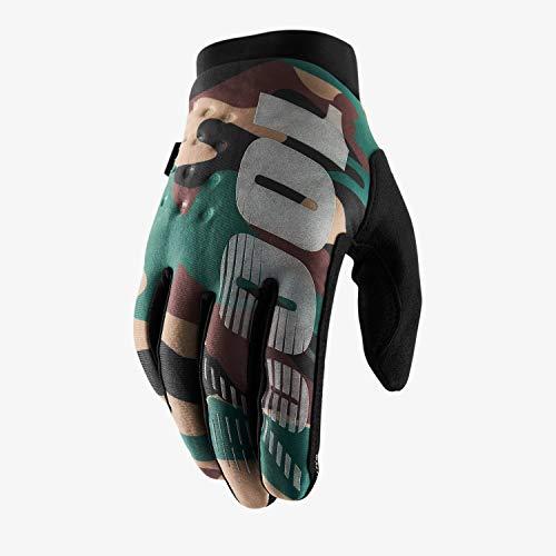 100% Brisker 100% Glove Guantes, Unisex Adulto, Camo/Black,