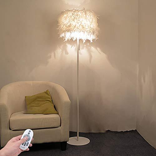 Zzh Stehlampe, Stehlampe LED Stufenlos Stehleuchte mit Fernbedienung 5W Stehleuchte Moderne Leselampe für Schlafzimmer Wohnzimmer
