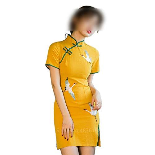 Qipao chino vestido cheongsam vintage 2020 mujeres fiesta de noche tradicional traje Vestidos grúa Año Nuevo China satén estilo