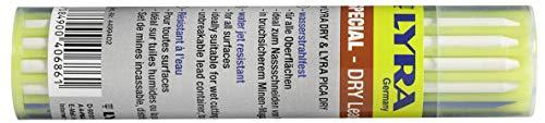 Lyra potloden (kleur: wit, groen en blauw), 12 stuks, geschikt voor alle oppervlakken, waterbestendig - 4499402