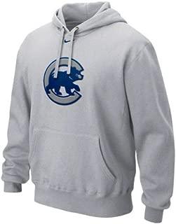 NIKE Chicago Cubs Ash Cup of Coffee Hoody Sweatshirt (Large)