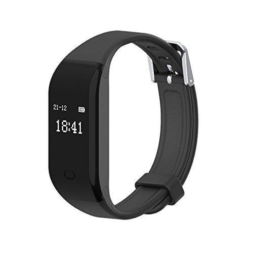 Fitness Tracker,Activity Tracker Cardiofrequenzimetro Impermeabile Smartband Braccialetto Fitness Orologio Smart Watch Band Pedometro da Polso Bluetooth Smartwatch per iPhone Android iOS Smartphone