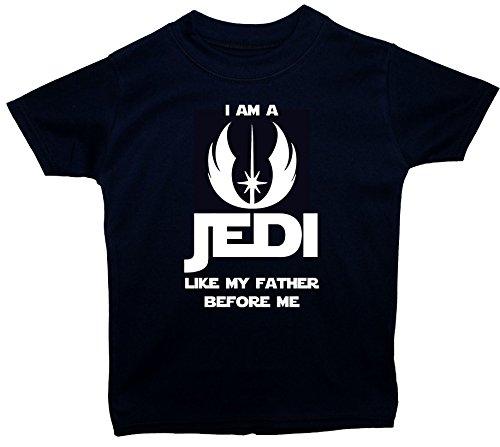Acce Products I Am a Jedi Like My Father Before Me T-shirt à manches courtes pour bébé/enfants 0 à 5 ans - Bleu - XXS