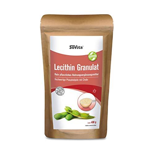 Lecithin | Rein pflanzliches Nahrungsergänzungsmittel Hochwertige Phospholipide & Cholin | 400 g
