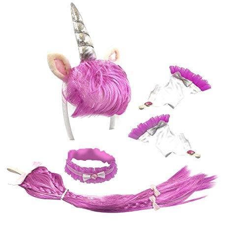 Ladies Purple Unicorn Fancy Dress Set