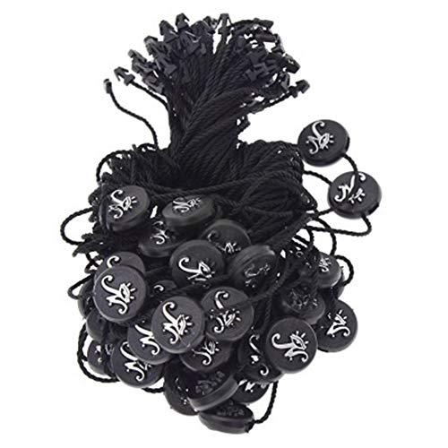 500pcs / lot cuadrados plásticos/hebilla redonda Etiquetas de encaje cuerda cuerda colgante por tabletas bolsos de ropa Tag Tarjetas Accesorios de bricolaje Pegatinas de Scrapbooking para todo uso