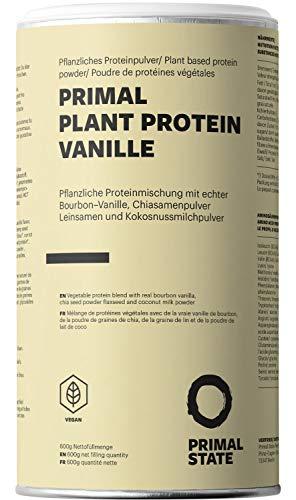 Pflanzliches Proteinpulver - Natürlicher Vanille Geschmack - Lupinenprotein, Hanfproteinpulver, Erbsen Proteinpulver, Reisprotein, Sonnenblumenkernprotein - 600g Vegan Protein