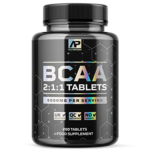 BCAA 2:1:1 Tablets – 6000mg per Serving – 1+ Months Supply - L-Leucine, L-Isoleucine and L-Valine with B6 (200 Tablets)