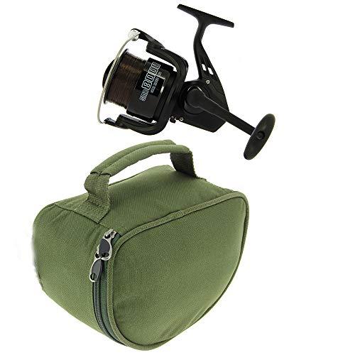 G8DS SMR 8000 2BB 'Spod/Marker' Rolle mit 18lb Schnu + Deluxe Rollentasche, Schnur, Rolle, Angeln, Outdoor, Freizeit