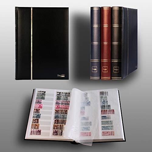 Prophila Leuchtturm Album pour Timbres, 60 Pages, intérieur divisé Blanc (couv. Noir)