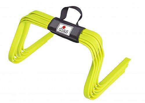 RHINOS sports elastische Koordinationshürden 6er-Set | Flach | 22,5 cm